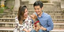 Engagement Photos with Dogs / Engagement pictures for dog lovers! Featuring engagement photography sessions where couples chose to include their dogs.