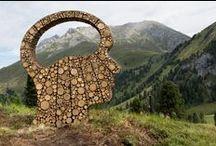 RespirArt Art Project (www.respirart.com) Fiemme Valley Dolomites Trentino (land art) / art open air in Dolomites