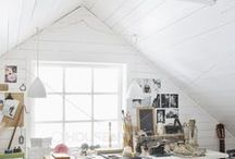 studio & art / creating art, pretty studio spaces