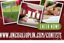 Beyond the Vine Giveaway / http://uncorkduplin.com/contests/  Enter to Win Your Duplin County Getaway.  GRAND PRIZE ($1,200 Value):  Two overnight stays at River Landing, Your choice of a round of Golf or Spa package, Entertainment Passes, A 32GB iPod Shuffle, and Much More! RUNNER UP ($600 Value): One overnight stay at Murray House Country Inn, Lunch for two at your choice of the Bistro Restaurant at Duplin Winery or Country Squire Restaurant.  Entertainment Passes,  Gift Cards and Much More!
