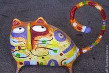 paper mache/paperclay/polymer / by Bonnie Schulte