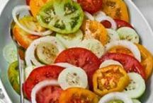 Salads / I love salads. They're so refreshing and a nice change from all the chocolate I usually eat. I'm always looking for a few good salad recipes.