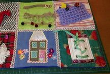 Fidget quilts, Alhzeimers and dementia / Fidget and Fiddle quilts for dementia patients other ideas for activities  / by Bev Flawith