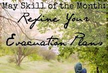 Skill of the Month: Plan an Emergency Evacuation / Plan ahead to evacuate your home, workplace, and school. Do it BEFORE the emergency happens! www.TheSurvivalMom.com / by The Survival Mom