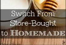 SKILL of the Month: Switch from store-bought to homemade / A collection of pins to help you switch from using store-bought products, which contain ingredients you may not want in your home, to homemade products. www.TheSurvivalMom.com