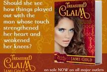 My Books: Treasured Claim / The Multi-Award-Winning first novel of the Mythos Legacy is available at http://jamigold.com/tc. Check out Elaina, my dragon shifter heroine with a taste for jewels, and Alex, who catches her with a stolen necklace. Oops. ;)