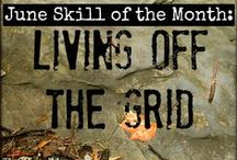 Skill of the Month: Learn Off-Grid Living Skills / Learn fundamental survival and life skills that aren't reliant on electricity. www.TheSurvivalMom.com / by The Survival Mom