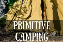 Skill of the Month: Primitive Camping / Brave the great outdoors by learning to camp primitive style! No RV, no electricity -- just you, your family, and nature! Start with these skills! www.TheSurvivalMom.com