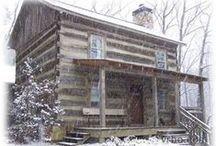 Log Cabin / Decor for vintage log cabin.