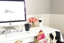 Dream Office / Office products-- mod + girlie. Home office decor, home office ideas, home office organization.