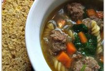 Soups and stews..mmmmm comfort / Comforting Soups and stews for a cold night / by Annette Gibson