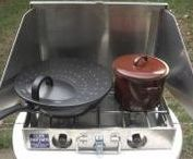 Camp Kitchen / Camping Stoves and Cookware, Ways to store gear and Stove Parts.