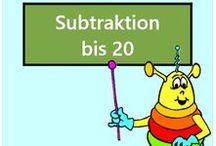 Subtraktion bis 20 / Alle Mathe-Arbeitsblätter des Mathiki-Online-Camps zum Thema: Subtraktion bis 20