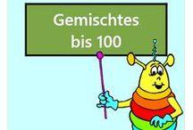 Gemischtes bis 100 / Alle Mathe-Arbeitsblätter des Mathiki-Online-Camps zum Thema: Addition, Subtraktion, Multiplikation, Division gemischt bis 100