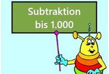 Subtraktion bis 1000 / Alle Mathe-Arbeitsblätter des Mathiki-Online-Camps zum Thema: Subtraktion bis 1000