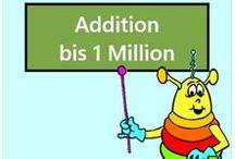 Addition bis 1 Million / Alle Mathe-Arbeitsblätter des Mathiki-Online-Camps zum Thema: Addition bis 1 Million