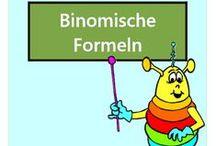 Binomische Formeln / Alle Mathe-Arbeitsblätter des Mathiki-Online-Camps zum Thema: Binomische Formeln