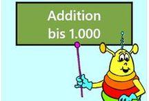 Addition bis 1000 / Alle Mathe-Arbeitsblätter des Mathiki-Online-Camps zum Thema: Addition bis 1000
