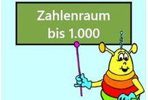 Zahlenraum bis 1000 / Alle Mathe-Arbeitsblätter des Mathiki-Online-Camps zum Thema: Zahlenraum bis 1000