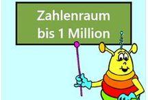 Zahlenraum bis 1 Million / Alle Mathe-Arbeitsblätter des Mathiki-Online-Camps zum Thema: Zahlenraum bis 1 Million