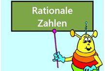 Rationale Zahlen / Alle Mathe-Arbeitsblätter des Mathiki-Online-Camps zum Thema: Rationale Zahlen