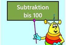 Subtraktion bis 100 / Alle Mathe-Arbeitsblätter des Mathiki-Online-Camps zum Thema: Subtraktion bis 100