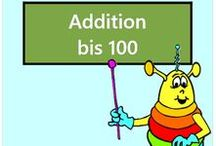 Addition bis 100 / Alle Mathe-Arbeitsblätter des Mathiki-Online-Camps zum Thema: Addition bis 100
