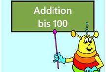 Addition bis 100 / Alle Mathe-Arbeitsblätter des Mathiki-Online-Camps zum Thema: Addition bis 100