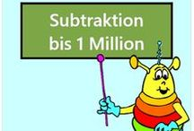 Subtraktion bis 1 Million / Alle Mathe-Arbeitsblätter des Mathiki-Online-Camps zum Thema: Subtraktion bis 1 Million