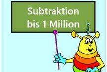 Subtraktion bis 1 Million / Alle Mathe-Arbeitsblätter des Mathiki-Online-Camps zum Thema: Subtraktion bis 1 Million