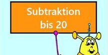 Subtraktion bis 20 Vorschau / Vorschau aller Aufgaben des Mathiki-Online-Camps zum Thema: Subtraktion bis 20