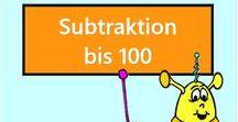Subtraktion bis 100 Vorschau / Vorschau aller Aufgaben des Mathiki-Online-Camps zum Thema: Subtraktion bis 100