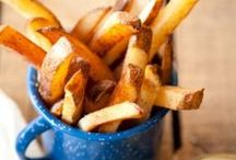 Potatoes / Recipes made with potatoes such as french fries, hash browns, etc.