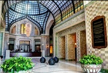 """Coolest Hotel Lobbies /  """"Everything happens there. You arrive, you meet, you leave all through the lobby. It's one of the souls of the hotel."""""""