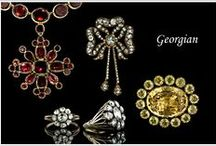 Georgian Period - 1714 to 1830 / The Georgian Period is the earliest jewelry that we have in our collection. Until modern times gemstones, diamonds and precious metals were very rare and these materials were recycled into later styles of jewelry. For this reason very little early Georgian jewelry survived. / by LangAntiques