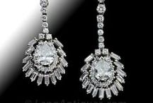 Diamond Drop Earrings / by LangAntiques