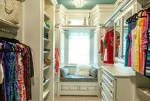 Master Bedroom Closet Organization / The woman's sanctuary is her closet. Get the whole closet (including hubby's) organized and looking pretty.