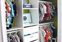 Kids Closet Organization / Kids are messy and guaranteed your kids closet won't stay like this but hey, you can dream right?