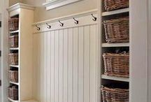 Mud Room Organization / Got a mudroom, entryway or foyer? Keep it organized with these tips.