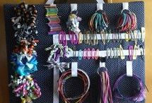 Hair accessories storage / Organize your hair accessories with these craft DIY's and simple hacks.