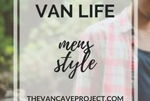 Van Life | Mens Style / Mens Van Life fashion inspiration for Pinterest perfect photos. Focus on vanlife, van-dwelling, van living.