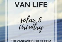 Van Life | Solar & Circuitry / Off-grid Van Life solar & circuitry tips, tricks & ideas to help you stay connected on the road. Focus on vanlife, van conversion, camper, van-dwelling, van living & becoming a vanlifer.