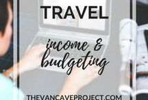 Travel | Income & Budgeting / Tips on how you can make money online to fund your travels and how to budget your hard earned cash. Focus on blogging, passive income, travel blogging, making money online, freelancing, working aboard and how to increase traffic.