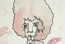 BRUNCH GUESTS / Blind contour, single line drawings by artist Ian Sklarsky.  www.iansklarsky.com IG: thesingleline