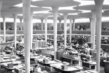 SC Johnson Building Archival Photos / SC Johnson's global headquarters in Racine, WI includes the spectacular Frank Lloyd Wright designed Administration Building and Research Tower. In 1936, construction had already begun on the new Administration building, but H.F. Johnson, Jr. sought out Frank Lloyd Wright because he wanted a new, more modern approach.The Administration Building opened in 1939, followed by the Research Tower in 1950. Today, both are on the National Register of Historic Places.
