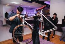 """Yotel x Strada """"Year of the Snake"""" 2013 Bike Launch / We launched our 2013 bike program in collaboration with NYC's Chinatown-based custom bike company STRADA CUSTOMS, offering our hotel guests a fleet of specially designed bikes to use as an amenity throughout their stay. Enter to win a Strada Customs bike!  Simply follow @yotel on Instagram and post a picture of one of the YOTELxStrada bikes with the hashtag #yotelxstrada."""