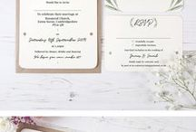 Rustic Wedding Invitations / Beautiful & affordable handmade wedding invitations complete with ribbon and brown envelope by Vintage Prints - www.vintageprints.co.uk