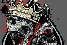 Grafika skulls / Czaszki i tatuaże