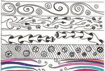 Art: Doodles, Lettering, and Zentangles / Zentangle patterns, zentangle examples, lettering, and doodle tutorials  / by Melissa Olivero