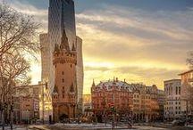 Frankfurt Fotos: We love Frankfurt, Skyline Blick, Frankfurter Stadtleben, Big City Life